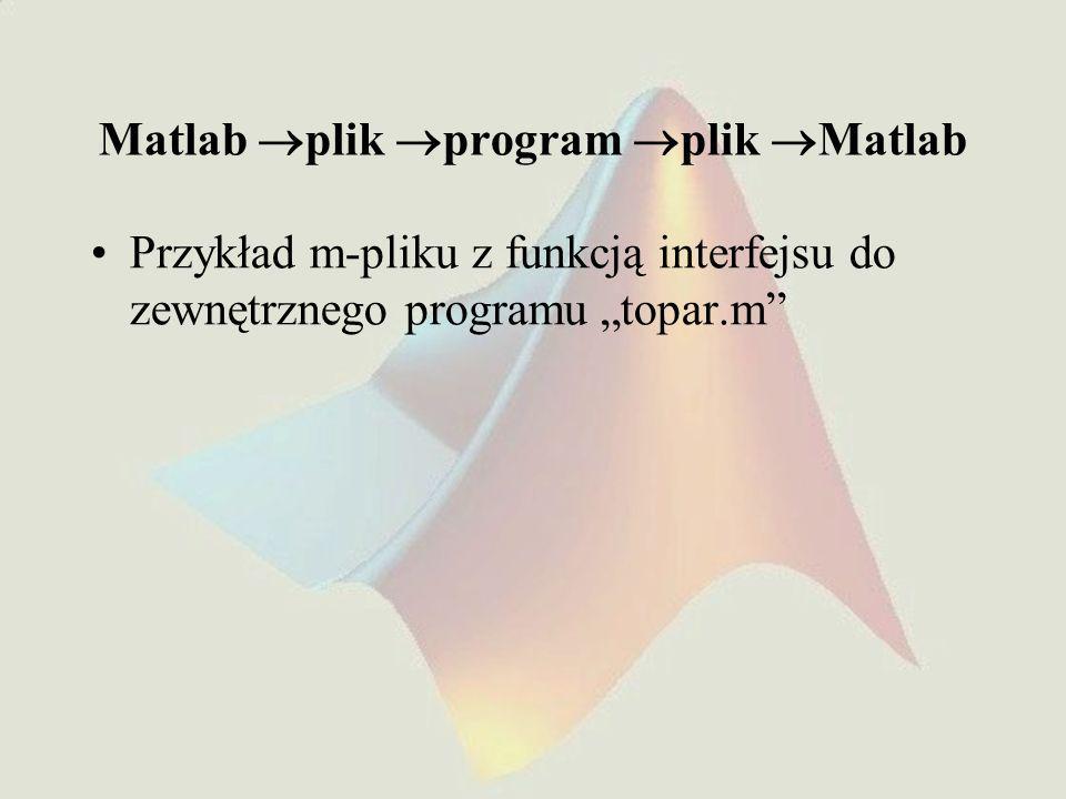 Matlab plik program plik Matlab