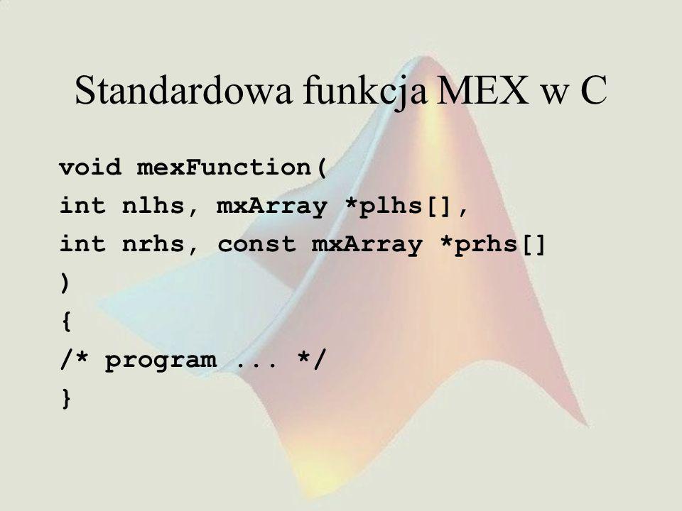 Standardowa funkcja MEX w C