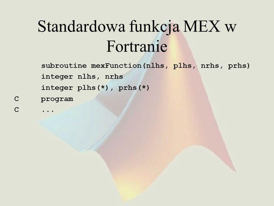 Standardowa funkcja MEX w Fortranie