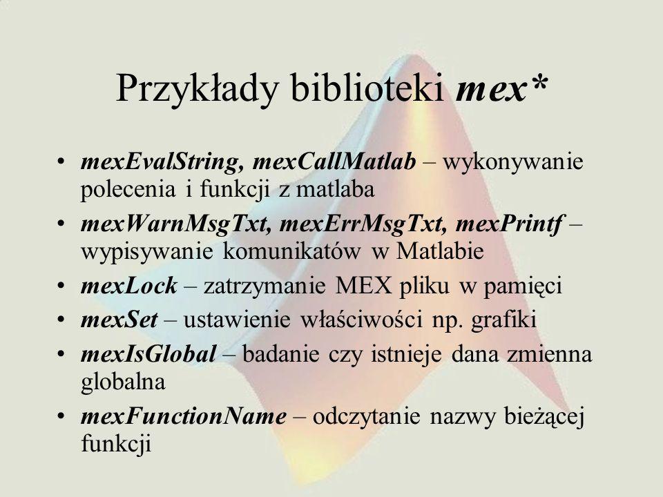 Przykłady biblioteki mex*