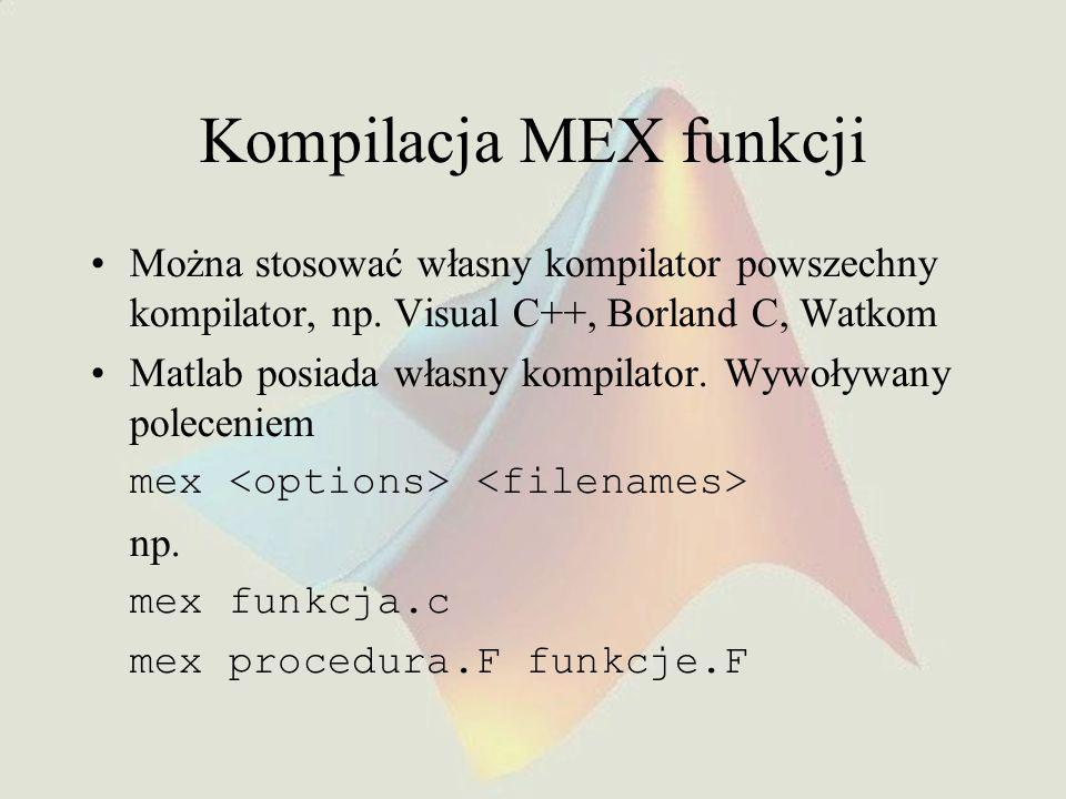Kompilacja MEX funkcji