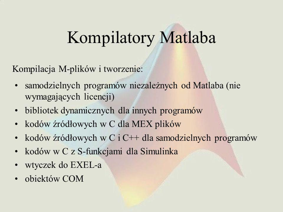 Kompilatory Matlaba Kompilacja M-plików i tworzenie:
