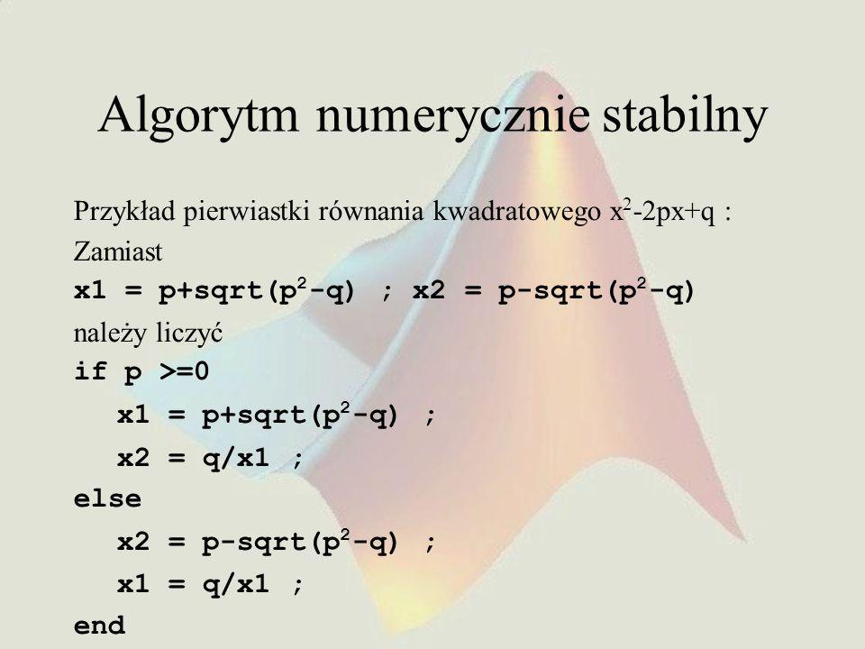 Algorytm numerycznie stabilny
