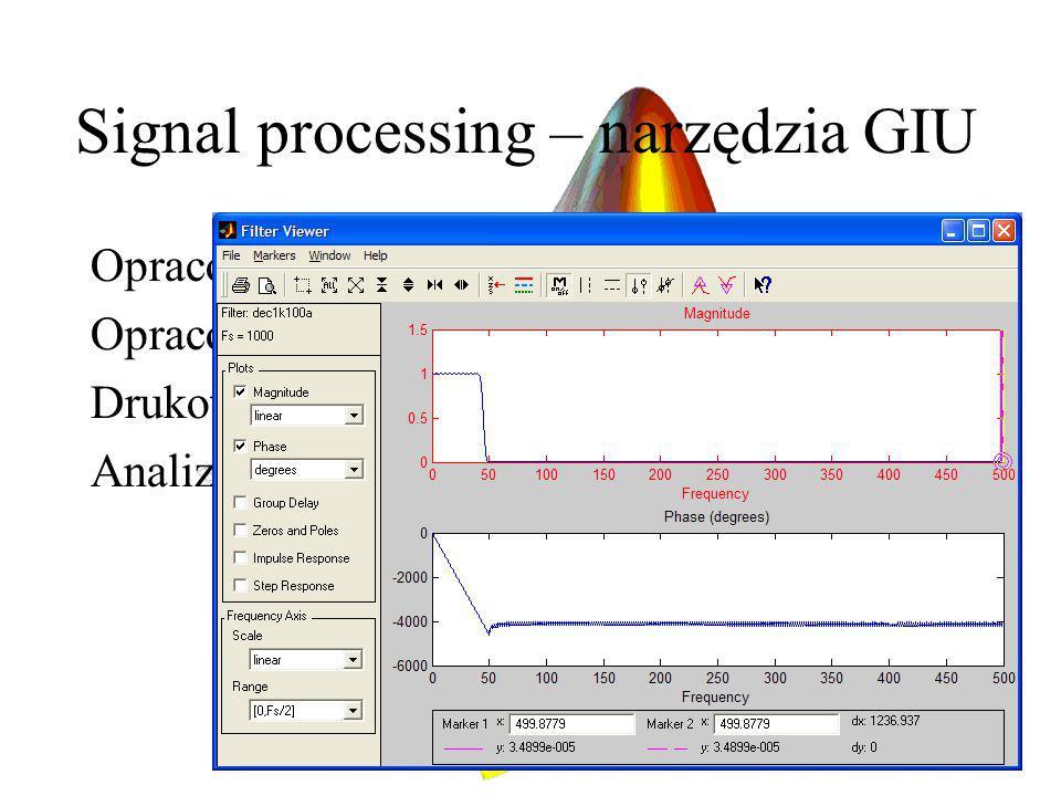 Signal processing – narzędzia GIU