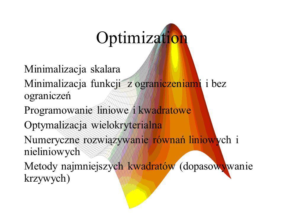 Optimization Minimalizacja skalara
