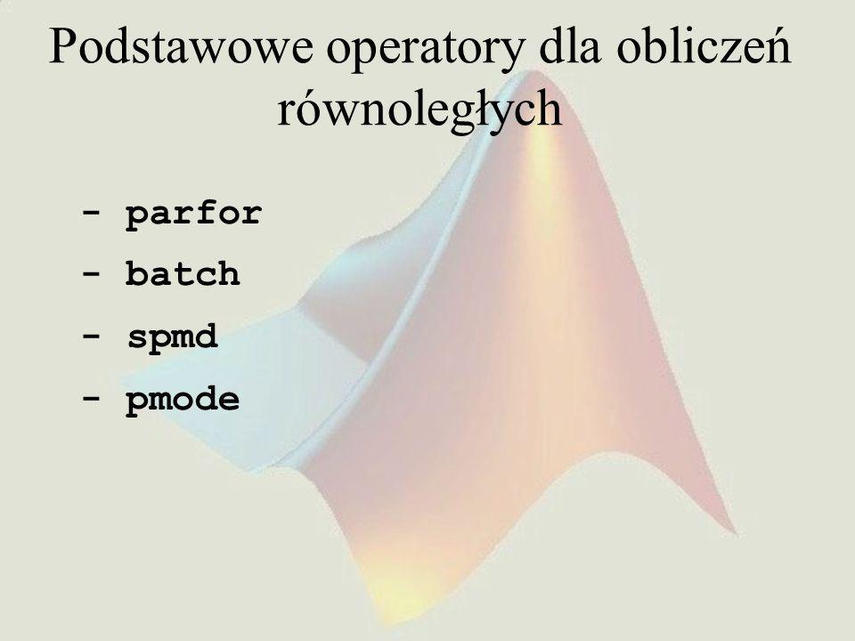 Podstawowe operatory dla obliczeń równoległych