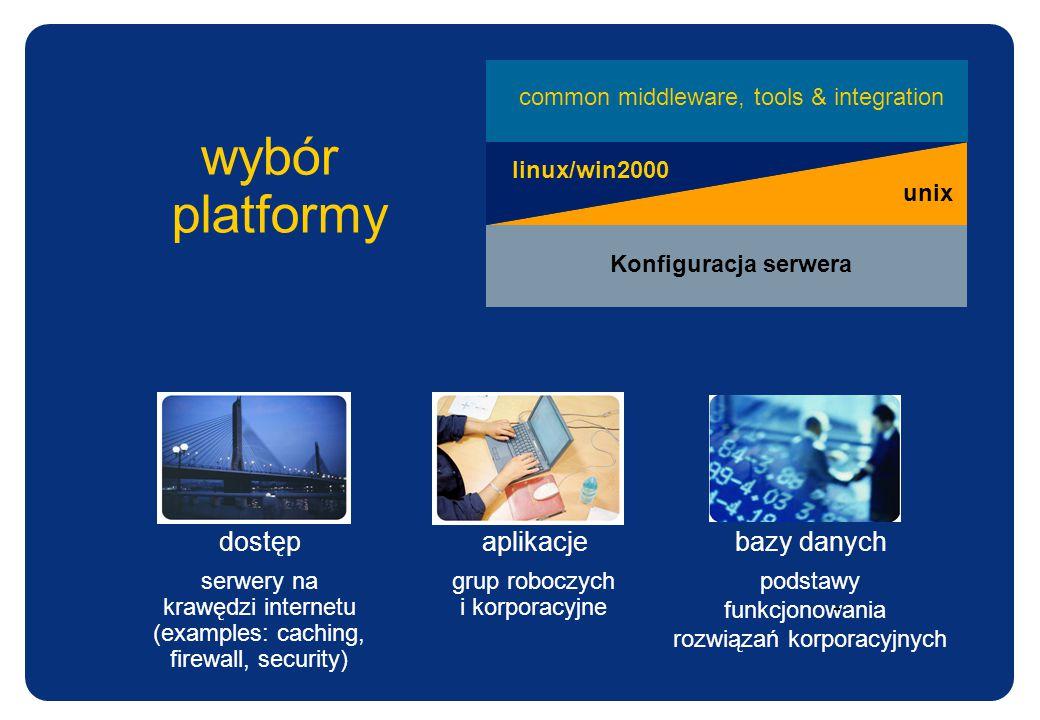 wybór platformy dostęp aplikacje bazy danych