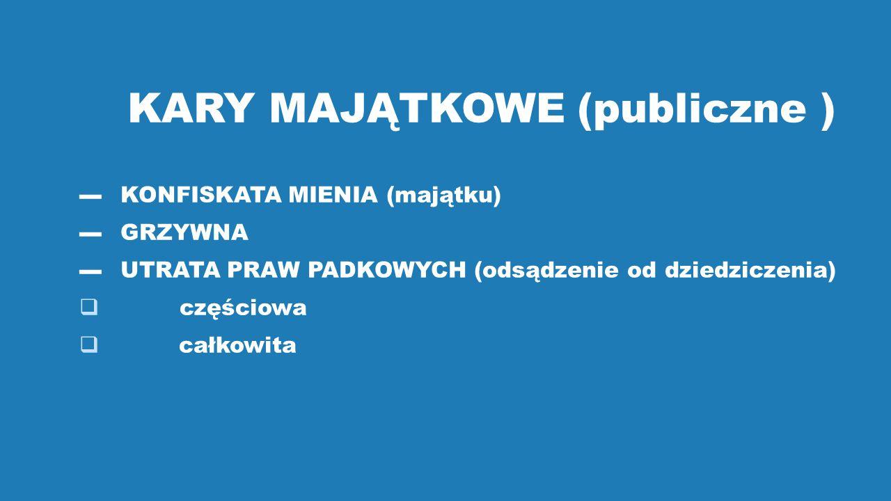 KARY MAJĄTKOWE (publiczne )