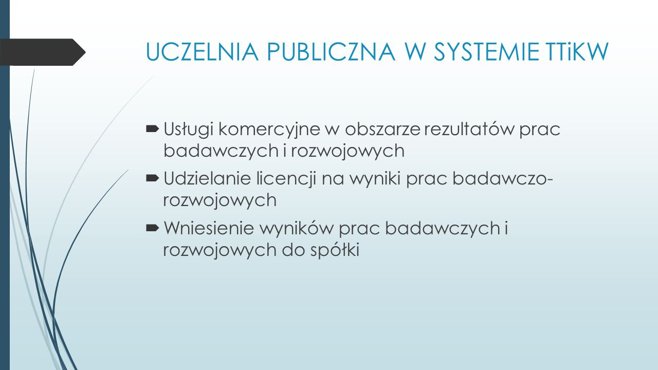 UCZELNIA PUBLICZNA W SYSTEMIE TTiKW