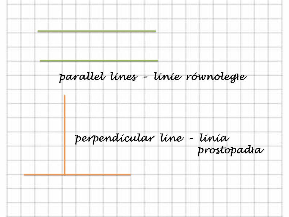 parallel lines – linie równoległe