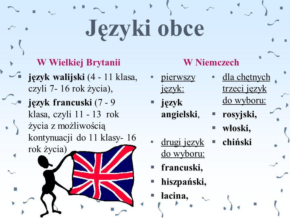 Języki obce W Wielkiej Brytanii W Niemczech
