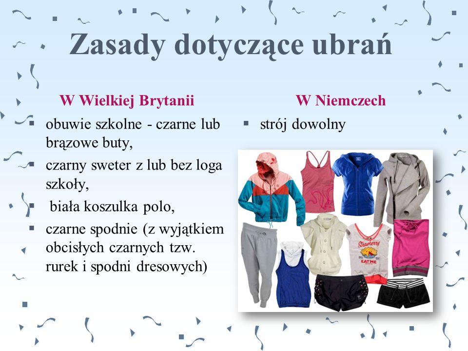 Zasady dotyczące ubrań