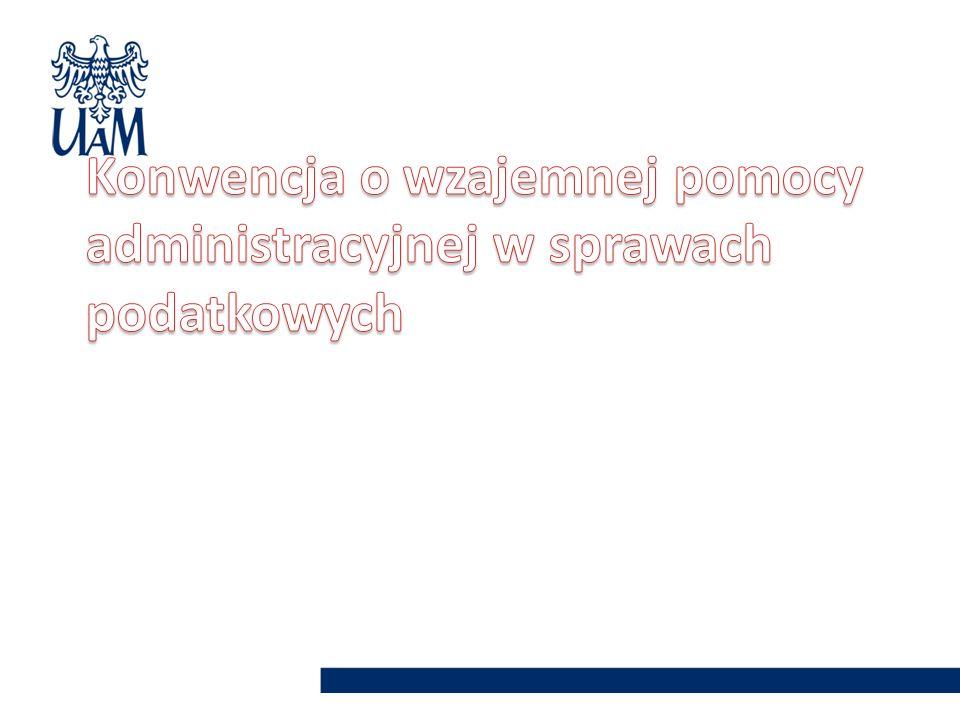 Konwencja o wzajemnej pomocy administracyjnej w sprawach podatkowych