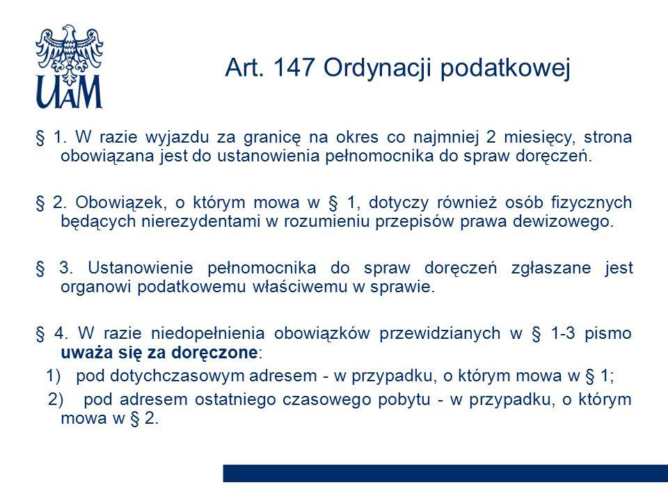 Art. 147 Ordynacji podatkowej