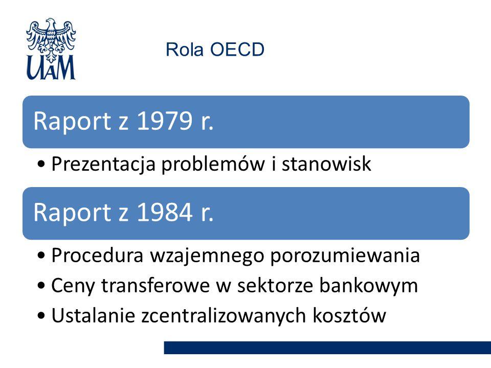 Raport z 1979 r. Raport z 1984 r. Prezentacja problemów i stanowisk
