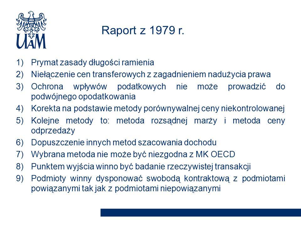 Raport z 1979 r. Prymat zasady długości ramienia