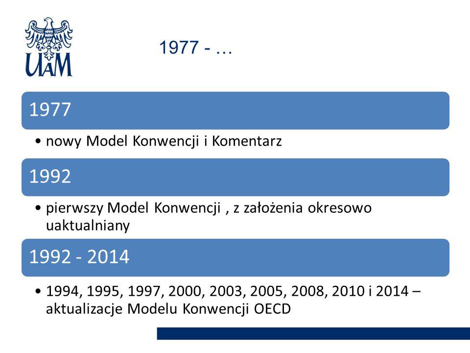 1977 1992 1992 - 2014 1977 - … nowy Model Konwencji i Komentarz