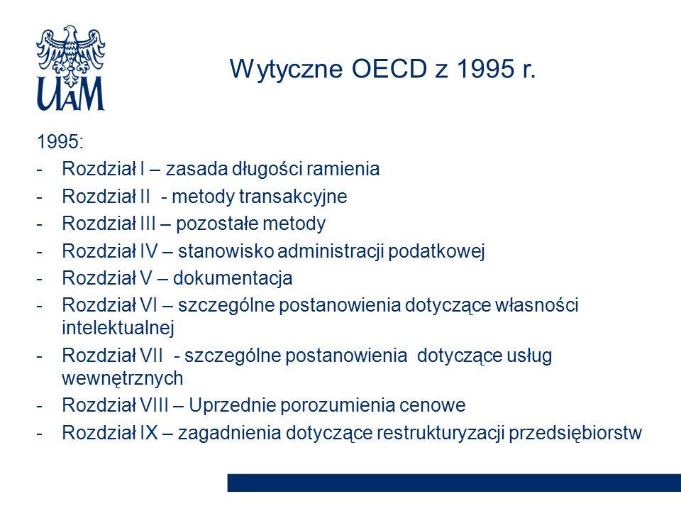 Wytyczne OECD z 1995 r. 1995: Rozdział I – zasada długości ramienia