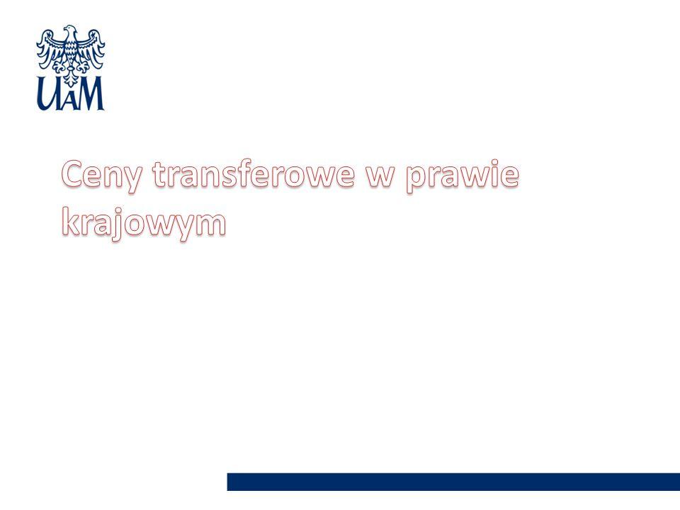 Ceny transferowe w prawie krajowym