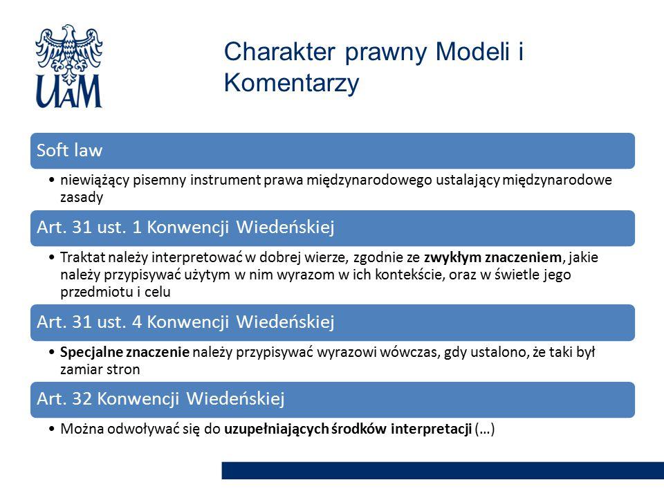 Charakter prawny Modeli i Komentarzy
