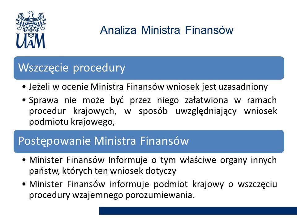 Analiza Ministra Finansów