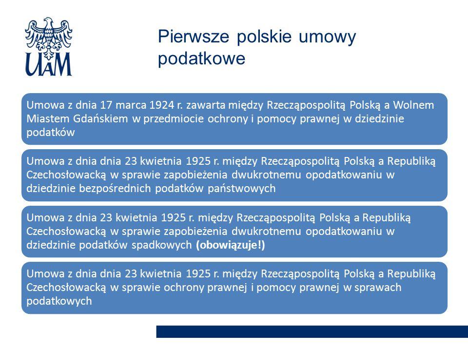 Pierwsze polskie umowy podatkowe