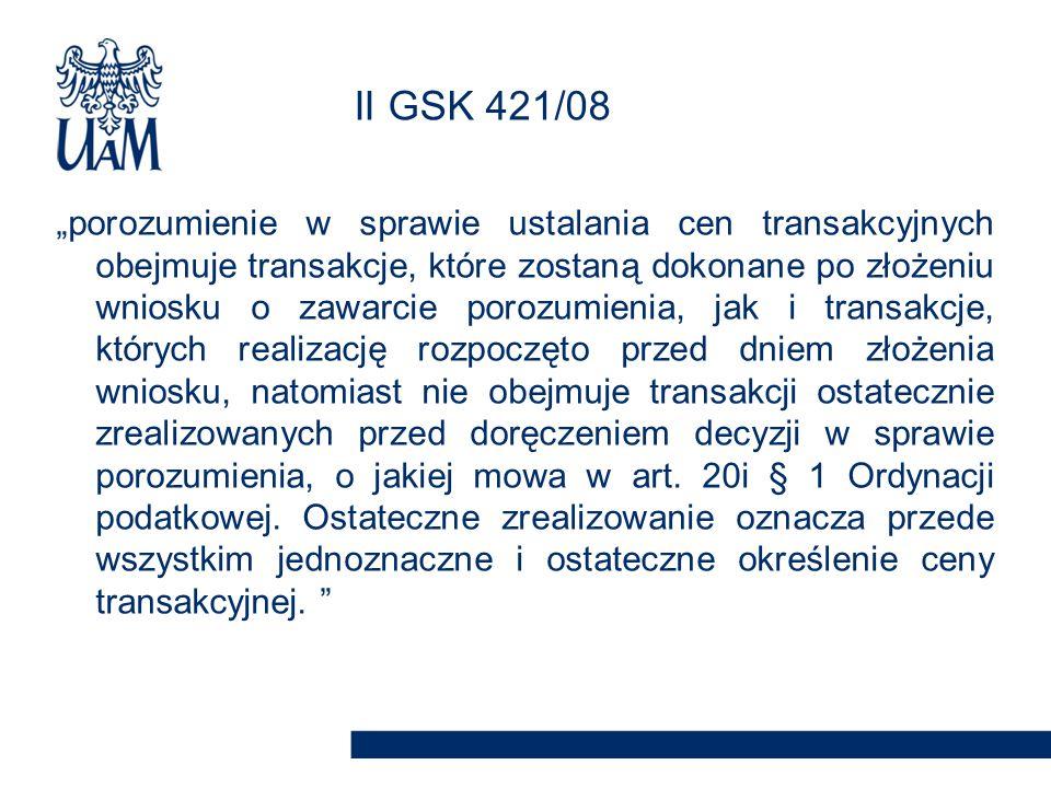 II GSK 421/08