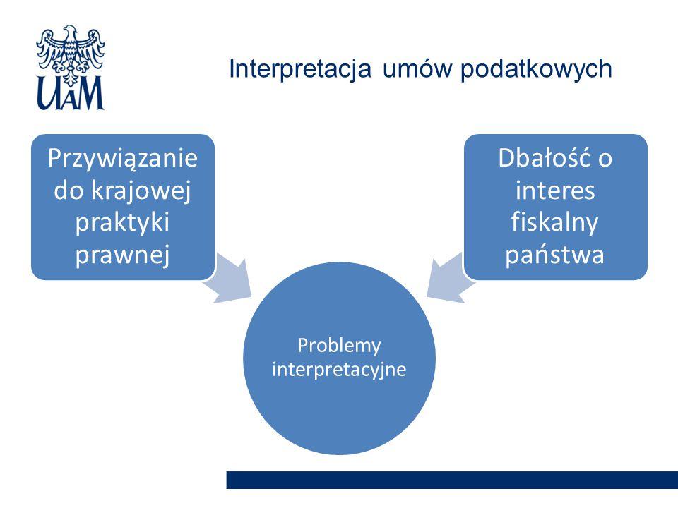 Interpretacja umów podatkowych