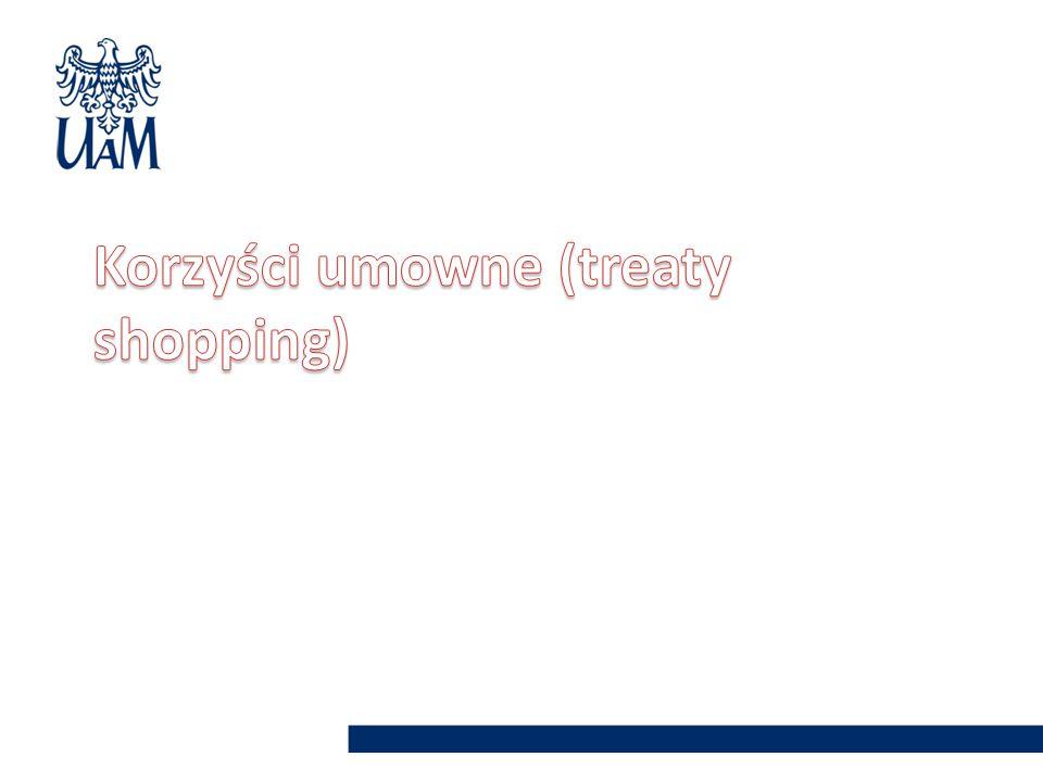 Korzyści umowne (treaty shopping)