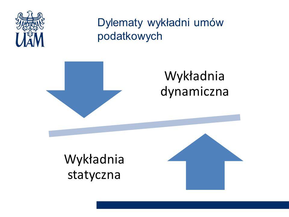 Dylematy wykładni umów podatkowych