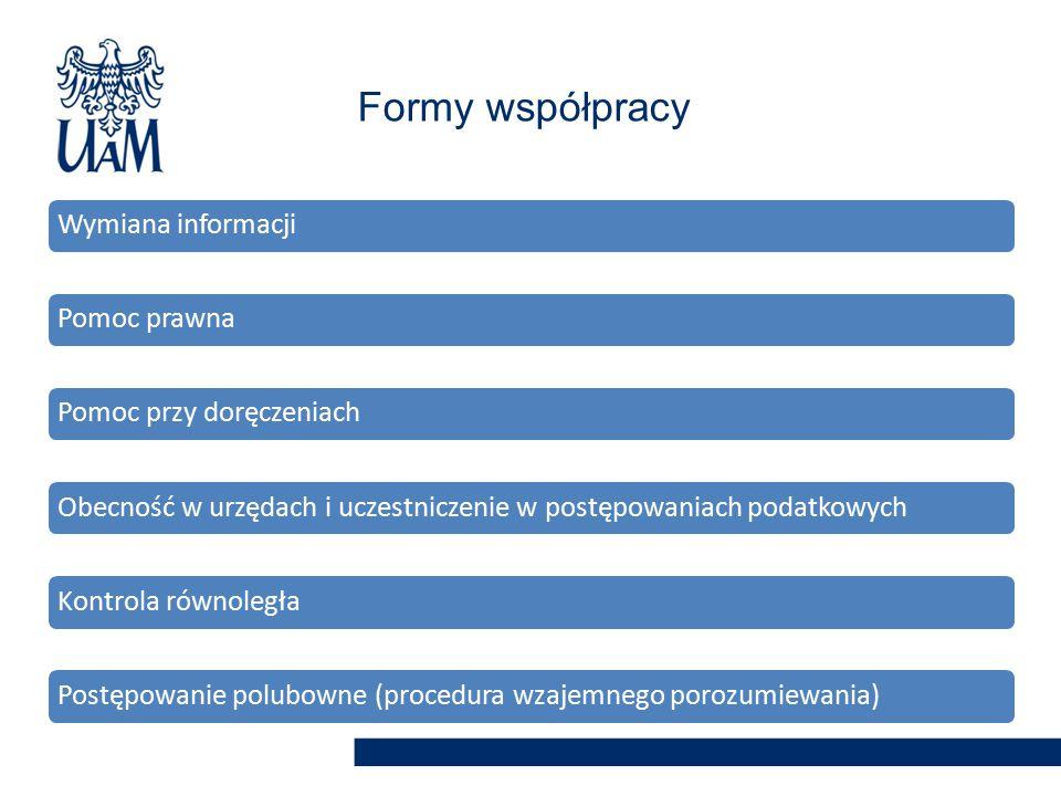 Formy współpracy Wymiana informacji Pomoc prawna