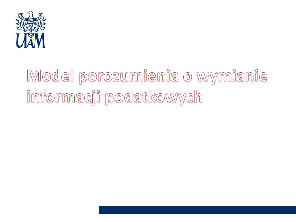 Model porozumienia o wymianie informacji podatkowych
