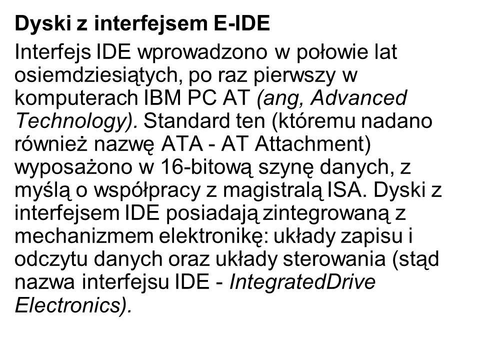 Dyski z interfejsem E-IDE