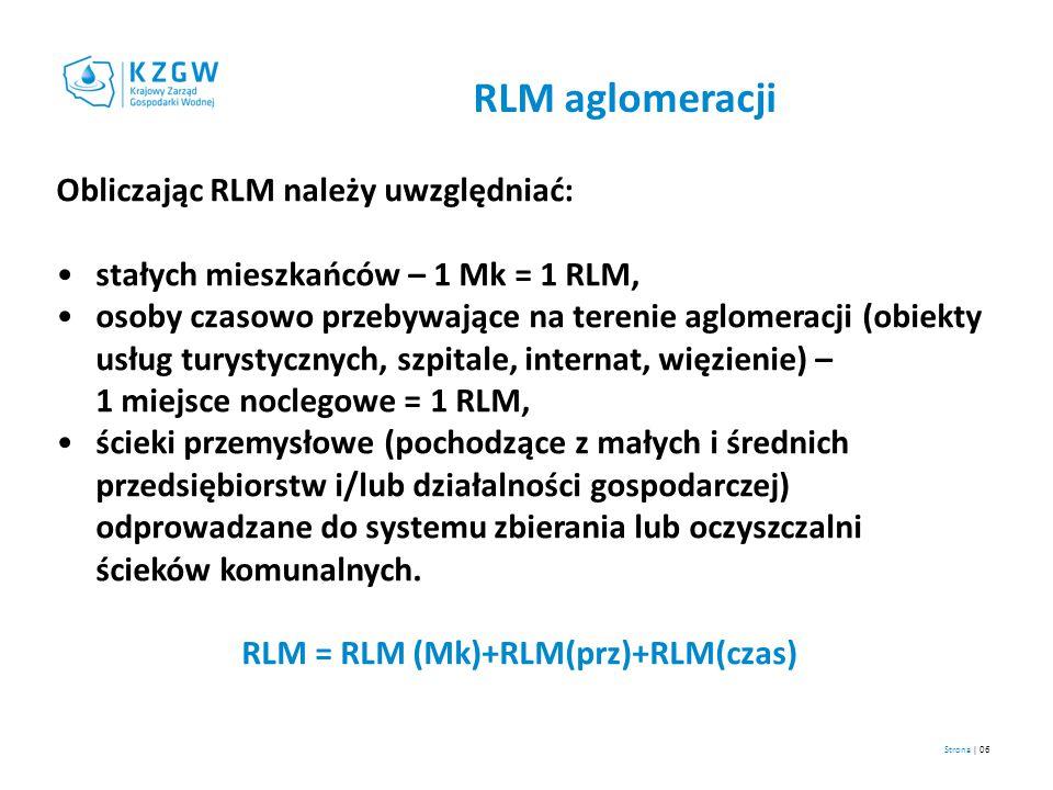RLM = RLM (Mk)+RLM(prz)+RLM(czas)