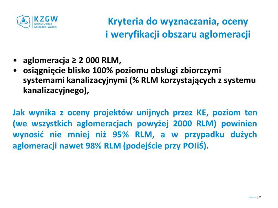 Kryteria do wyznaczania, oceny i weryfikacji obszaru aglomeracji