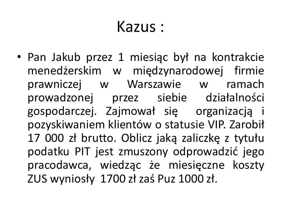 Kazus :