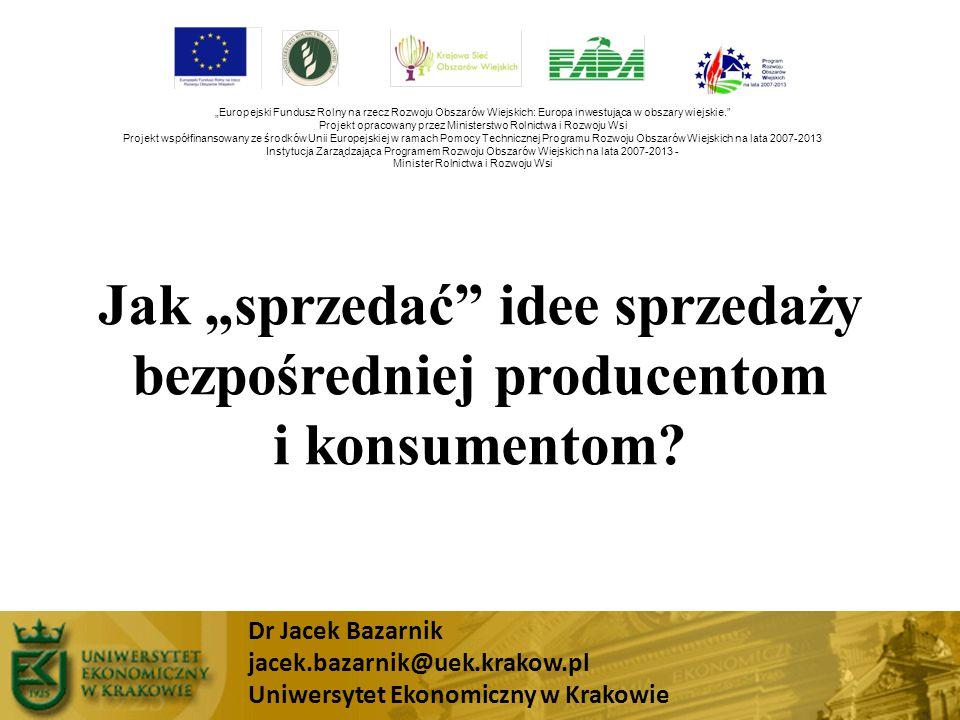 """Jak """"sprzedać idee sprzedaży bezpośredniej producentom i konsumentom"""