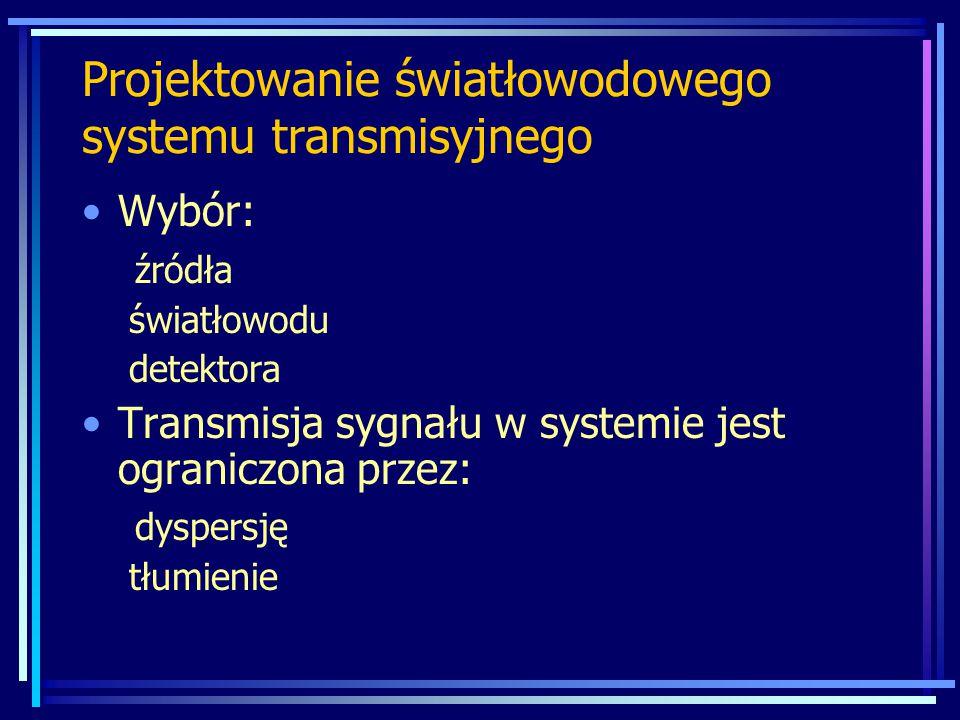 Projektowanie światłowodowego systemu transmisyjnego