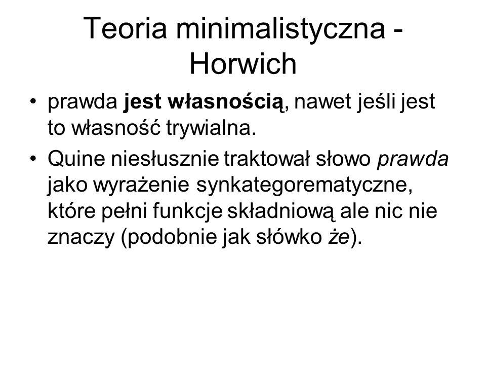 Teoria minimalistyczna - Horwich