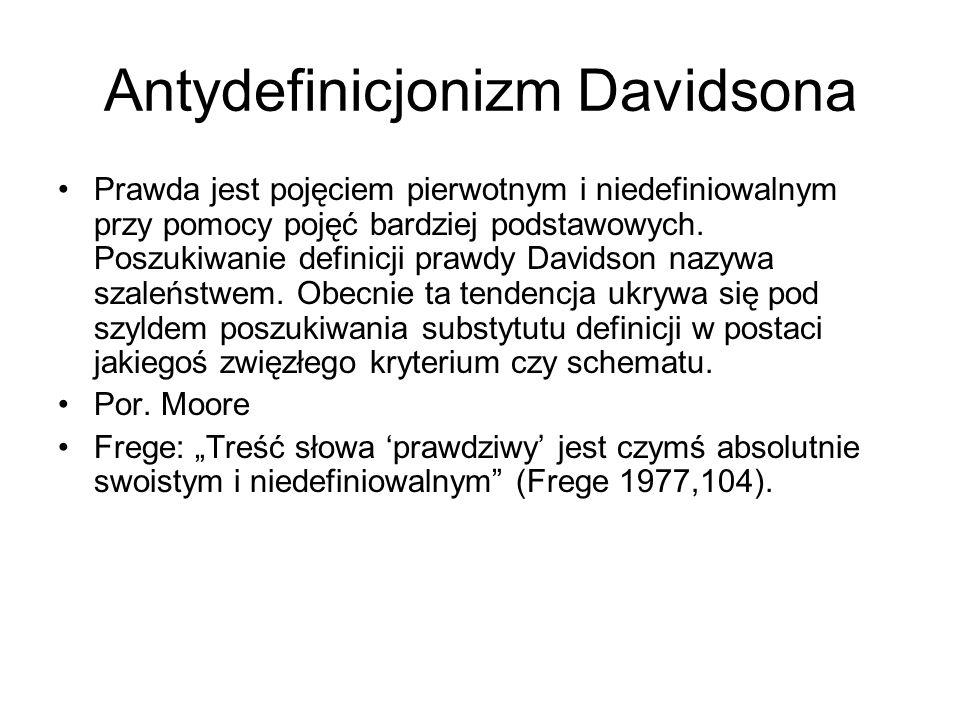 Antydefinicjonizm Davidsona