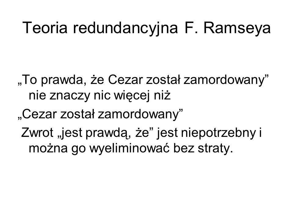 Teoria redundancyjna F. Ramseya