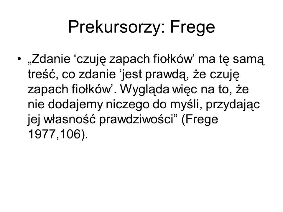 Prekursorzy: Frege