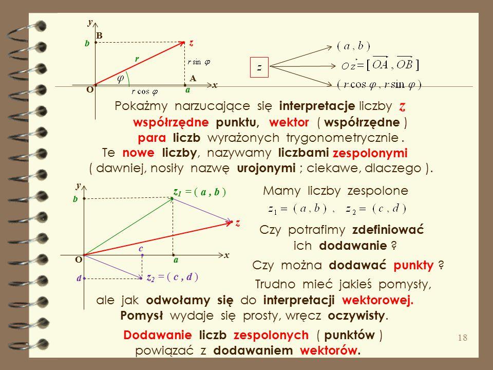 . . . . . . . . . . . . Pokażmy narzucające się interpretacje liczby z