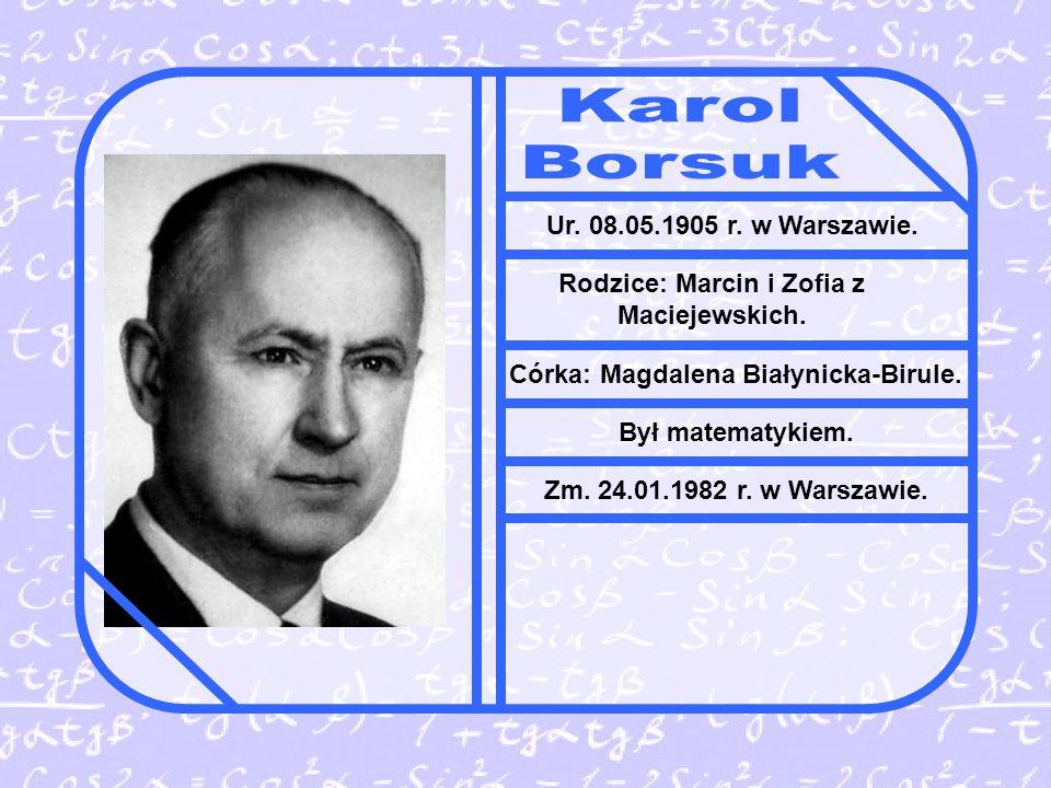 Karol Borsuk Ur. 08.05.1905 r. w Warszawie.