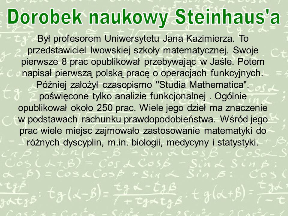 Dorobek naukowy Steinhaus a