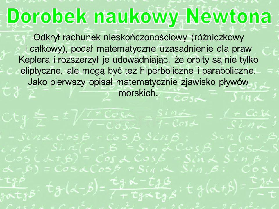 Dorobek naukowy Newtona