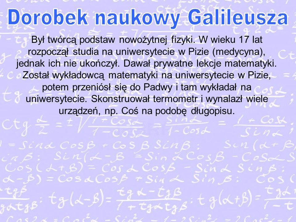 Dorobek naukowy Galileusza