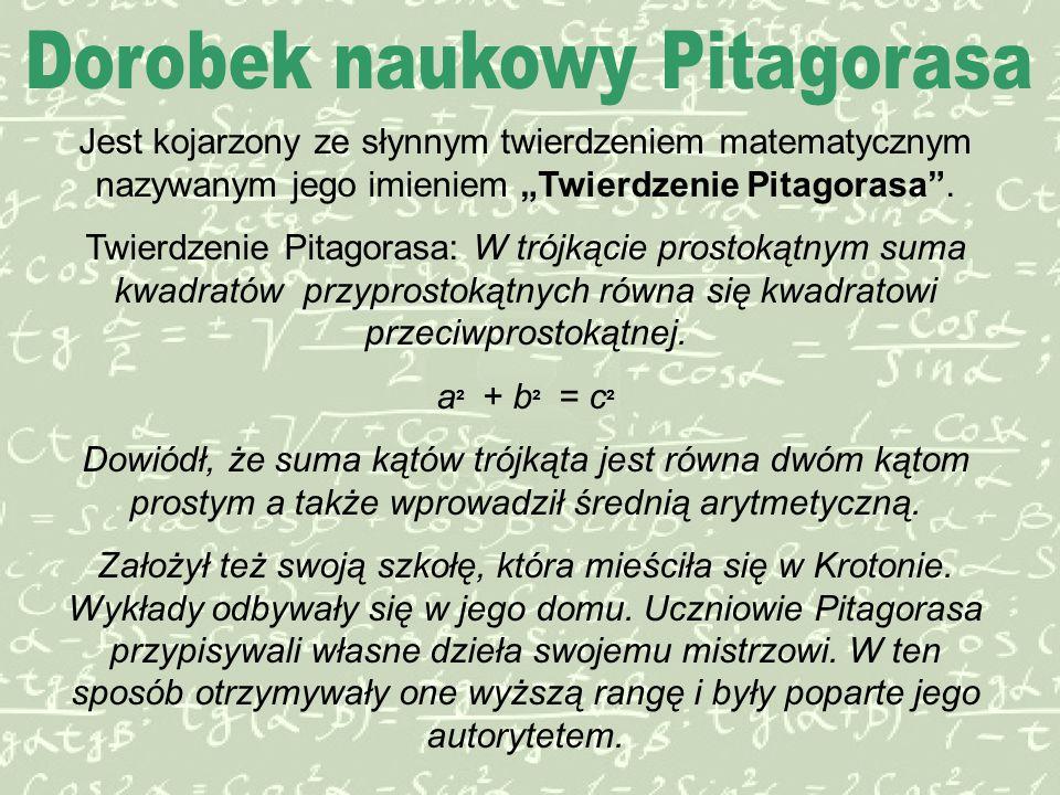 Dorobek naukowy Pitagorasa