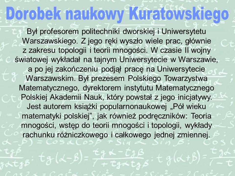 Dorobek naukowy Kuratowskiego