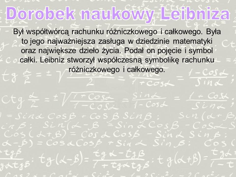 Dorobek naukowy Leibniza